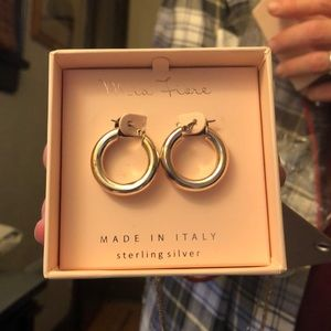 Mia Fiore Sterling Silver Hoops